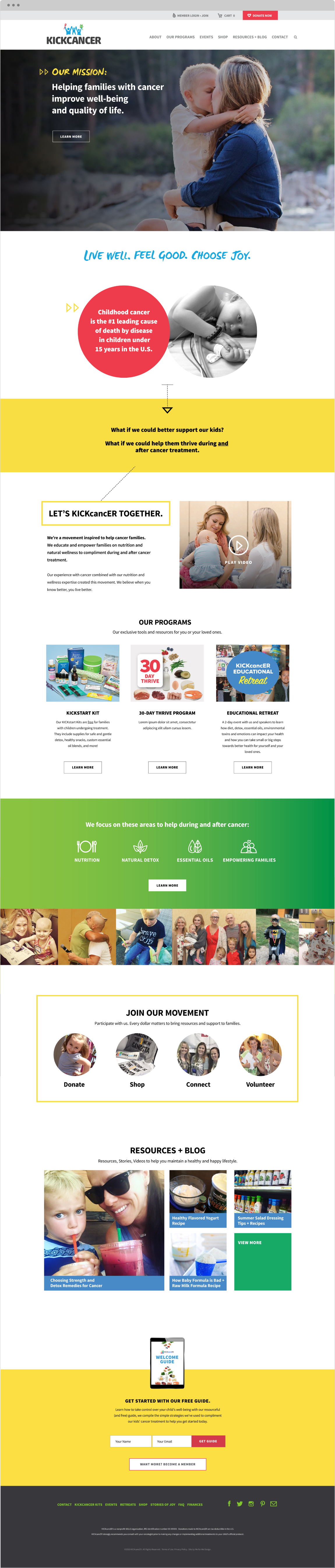Kickcancer - New Site